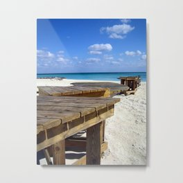 Caribbean Boardwalk Metal Print