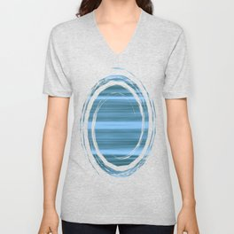 Abstraction Serenity in Ocean Unisex V-Neck