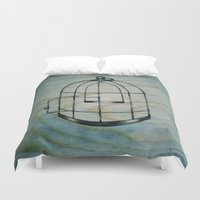cage Duvet Covers featuring Bird Cage by BrittanyElyse