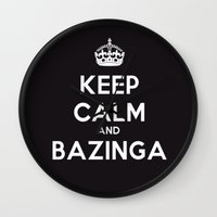 bazinga Wall Clocks featuring Bazinga by S.YassinPhotography