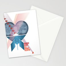 Broken Heart Is A Deadly Weapon Stationery Cards