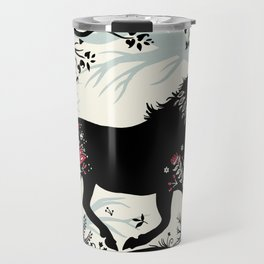 Folk Unicorn Travel Mug