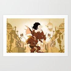 Pig in a fantasy Art Print