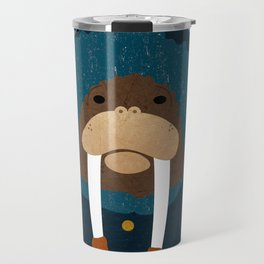 Walrus by Darah King Travel Mug