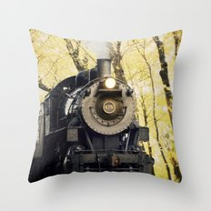 Autumn line Throw Pillow