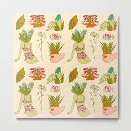 Plant Flash Sheet Metal Print