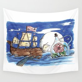 message from the sea. Wall Tapestry