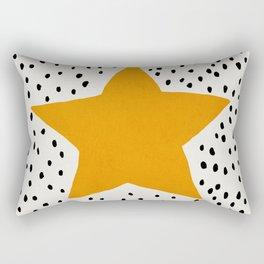 Star, Mid century modern kids wall art, Nursery room Rectangular Pillow