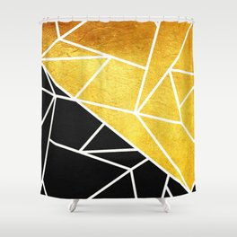 Coal and Gold Shower Curtain