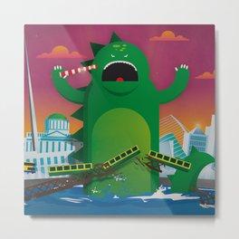 Godzilla in Dublin Metal Print