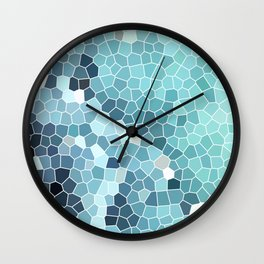 Turquoise Abstract Mosaic Art | Spring Wall Clock