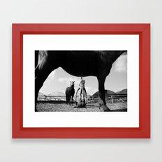 acro horse Framed Art Print
