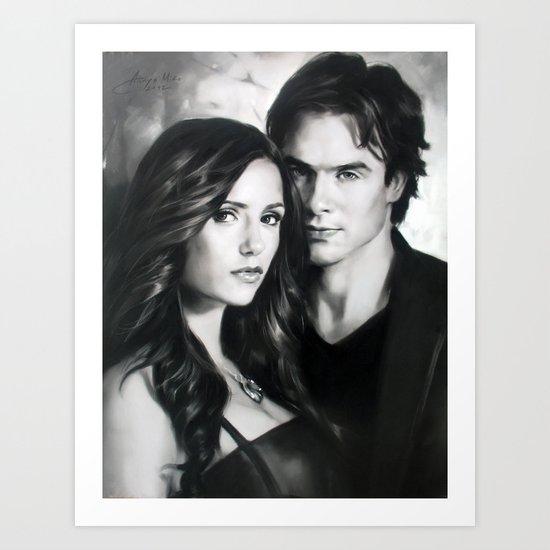 The Vampire Diaries Art Print