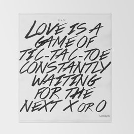 Love is a game Throw Blanket