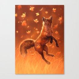 Jump Into Fall Canvas Print