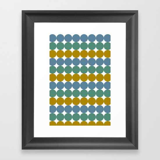 Formes et couleurs Framed Art Print