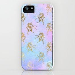 Golden Unicorn iPhone Case