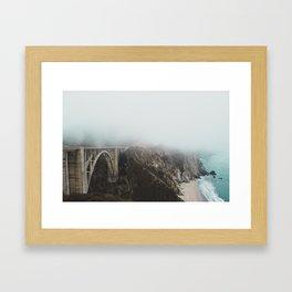 Bixby Bridge in the Fog Framed Art Print