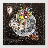 novelty Canvas Prints featuring Universe Striving for Novelty by Eugenia Loli