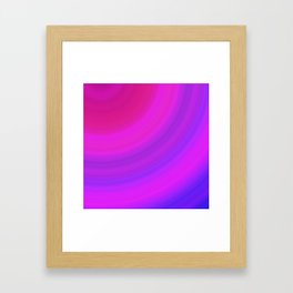 Neon Pink Blue Circles Framed Art Print