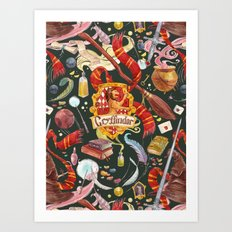 Gryffindor Pattern Art Print