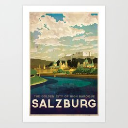 Salzburg, Austria Art Print