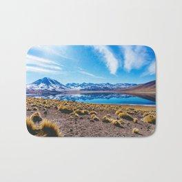 Laguna Miñiques, San Pedro de Atacama Desert, Chile Bath Mat
