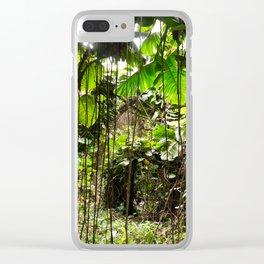 Jungle Vines Clear iPhone Case