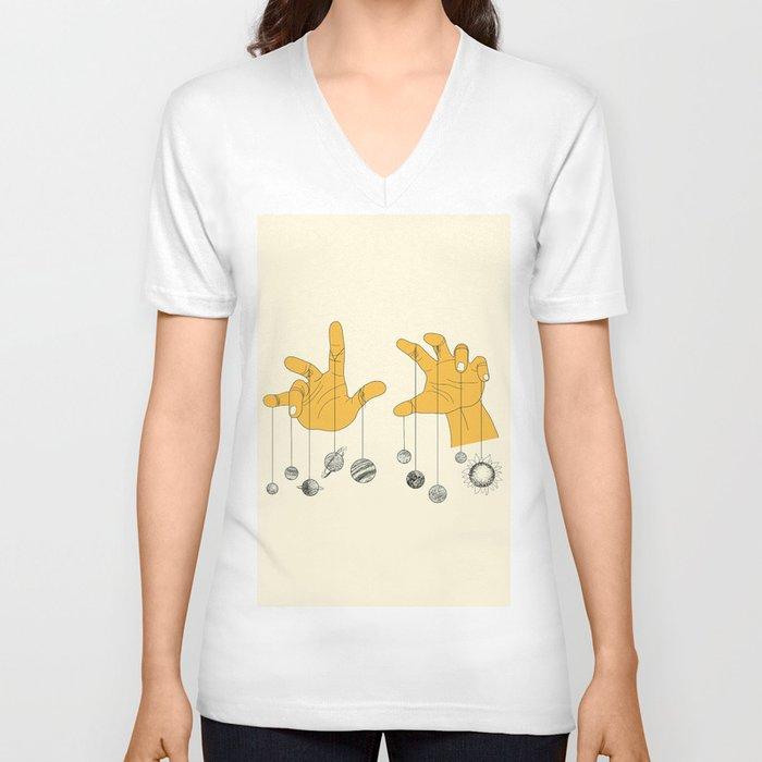 Solar System Unisex V-Ausschnitt