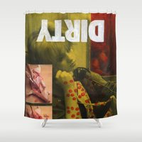 dirty dancing Shower Curtains featuring Dirty by Molly Halligan