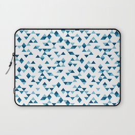 Triangles Blue Repeat Laptop Sleeve