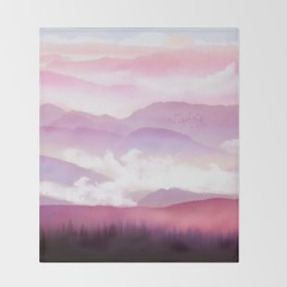 Candy Floss Mist Throw Blanket