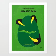 No047 My Jurasic Park minimal movie poster Art Print
