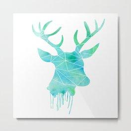 Watercolor - Deer Metal Print