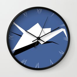 Paper Crane Wall Clock
