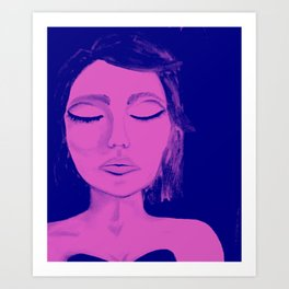 modern gal glam bot Art Print