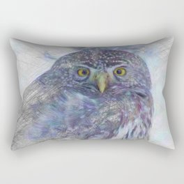 Artistic Animal Owl Rectangular Pillow