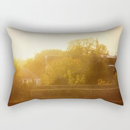 London Rooftops At Sunset  Rectangular Pillow