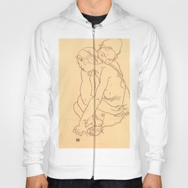 "Egon Schiele ""Woman and Girl Embracing"" Hoody"