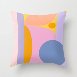 Pink and Lavender 01 Throw Pillow