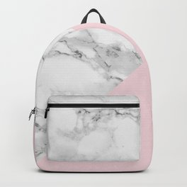 Marble + Pastel Pink Backpack