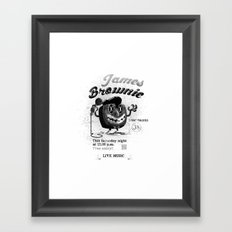 James BROWNIE! Framed Art Print