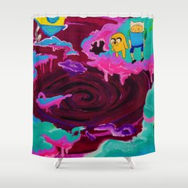 Lumpy Space Void  Shower Curtain