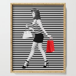Stripes in fashion Serving Tray