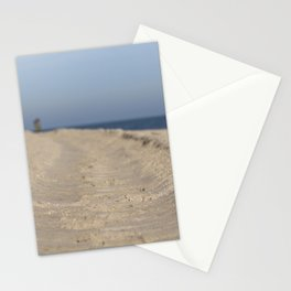 Traces in the sand Stationery Cards