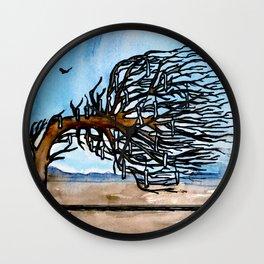 'Opposites' Tree Wall Clock