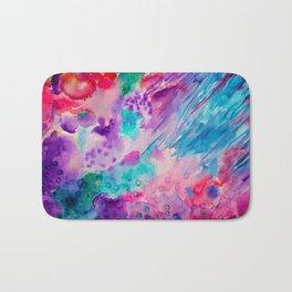 Watercolor Abstract Sea Bath Mat