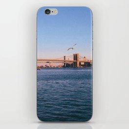 Brooklin Bridge (New York City - USA) view from Hudson river iPhone Skin