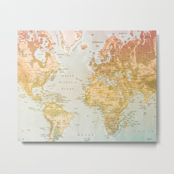 Pastel World Metal Print