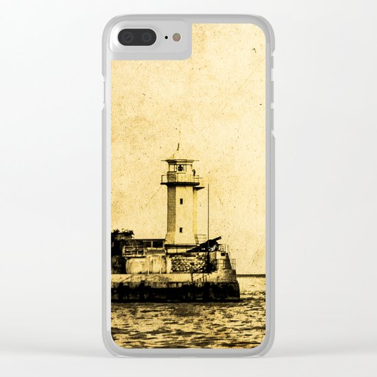 Old Lighthouse (vintage) Clear iPhone Case